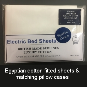 Eqyptian cotton fitted sheets & matching pillow cases